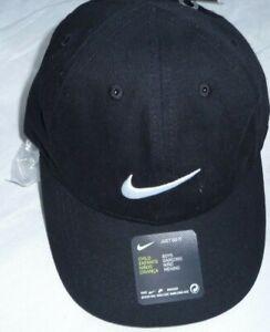 Nike Heritage Swoosh Cap Junior INFANTS  Baseball Adjustable ESSENTAIL BLACK