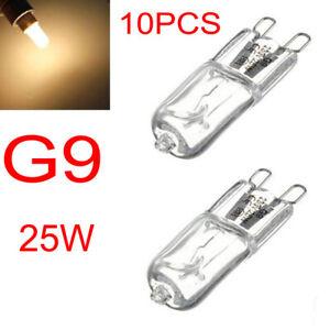 10PCS G9 25W Halogen Bulb Light Warm White  3000-3500K Globe 220- 240V