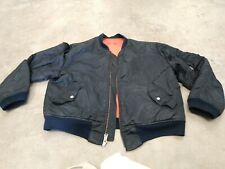 VTG ARMY JACKET BOMBER L MEN MILITARY BLACK REVERSIBLE