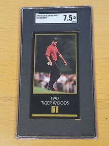 1997 Grand Slam Ventures SGC 7.5 Tigers Woods RC Newly Slabbed Rookie