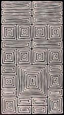 Adam Reid, Fire Dreaming, ORIGINAL Aboriginal Art 105x58cm w/ COA
