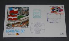 MUNDIAL DE FUTBOL ESPAÑA 82 - SOBRE DE LO PARTIDO  CHILE/AUSTRIA