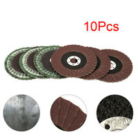 "10Pcs 4"" Sanding Flap Discs 16MM Bore Grinding Wheel For Angle Grinder 80#~320#"