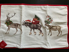 NWT Pottery Barn SILLY STAG Lumbar Pillow Cover ~ Reindeer ~ Christmas ~ Holiday