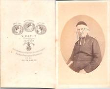 Petit, Langres, Prêtre, religieux en soutane Vintage CDV albumen carte de visite