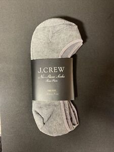 J.Crew Women No-show socks three-pack One Size Heather Pewter Item A5973