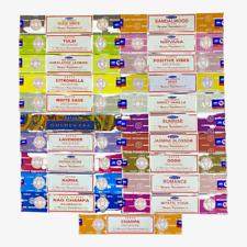 4 or 12 Pack Box Satya Genuine Nag Champa Incense Sticks Joss (Mixed Scents)