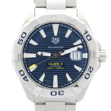 Gents Tag Heuer Aquaracer Calibre 5 Way Blue Dial Luminous Batons 2012