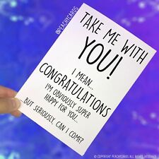 Funny New Job Card Coworker Leaving Good Luck Congrats Banter Office Jokes PC468
