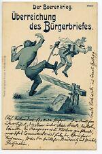 ANGLO-BOER WAR c.1900 German ant-British Uberreichnung des Burgerbrieffes unused