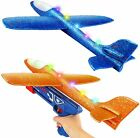 2 Pack Large Throwing Foam Plane Flying Gliders Launch Airplane Toy w/ Launcher