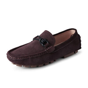 Mens Driving Moccasins Soft Comfy Breathable Casual Pumps Slip on Loafers Shoes