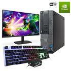 Fast Gaming Dell Bundle Tower Pc Full Set Computer Quad Core I5 8gb 2tb Gt1030