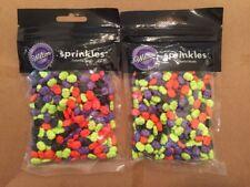 Wilton Colorful Skulls Halloween Sprinkles 2x 3oz Bags NIP