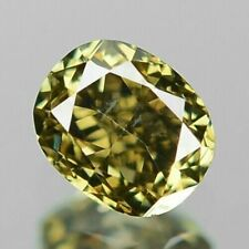 0.17 Carat NATURAL Sparkly GREENISH YELLOW DIAMOND LOOSE for Setting Oval Cut