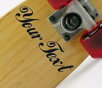 2X CUSTOM VINYL DECAL sticker skateboard graphic Deck CHOOSE COLOUR & FONT