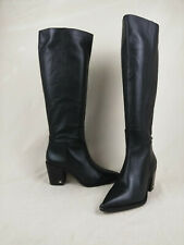 Sam Edelman Lindsey Black Leather Western Tall Boot Women's Size 8.5 M US