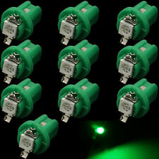 10x T5 B8.5D 5050 1SMD Green LED Bulbs Dashboard Cluster Gauge Side Light DC12V