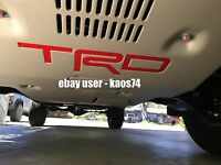 Toyota Tacoma TRD PRO Skid Plate Decal 2015 2016 2017 2018 and 2019 Voodoo