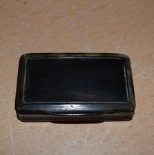 Antique 19th Century TORTOISE SHELL Hinged Snuff Box c.1870