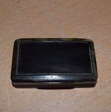 Antique 19th Century TORTOISE SHELL Hinged Snuff Box c.1870