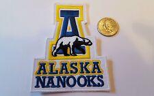 "Alaska University Alaska Nanooks Vintage   Embroidered Iron On Patch 4x3"""