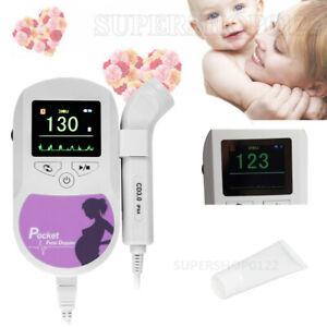 portable color LCD Fetal Doppler Ultrasound Pregnancy FHR Baby heart rate 3MHZ