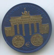 "GS549 - Liberia 5 Dollars 2005 Gold plated niobium ""Brandenburger Tor"" Germany"