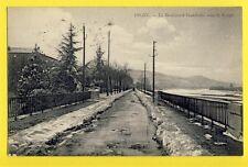 cpa FRANCE 04 DIGNE les BAINS Alpes de Hte Provence Le Bd Gambetta sous la NEIGE