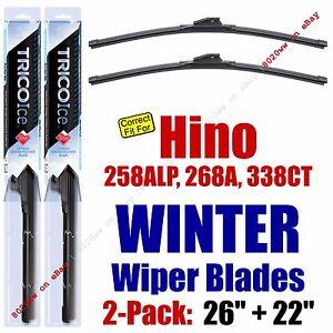 WINTER Wiper Blades 2pk Premium fit 2008-2014 Hino 258ALP 268A 338CT -35260/220