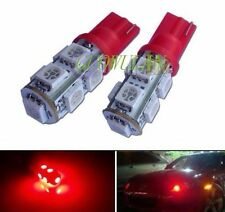 2X Super Red 9-SMD-5050 LED Bulbs For Car Parking Lights 168 194 2825 W5W TOP
