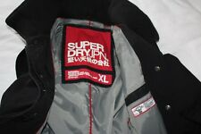 "Chemise Homme Superdry Authentique Jermyn Street Double Black trench coat UK L-XL 21"" P2P"