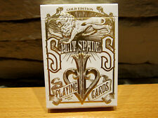 Split Spades Gold Playing Cards by David Blaine