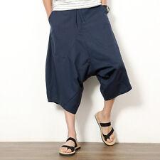 New Men Japanese Style Loose Harem Baggy Pants Fashion Wide Legs Trousers L-3XL