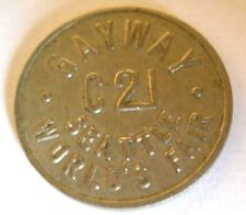 SALE-1962 C21 SEATTLE WORLD'S FAIR GAYWAY AMUSEMENT TOKEN FOR ARCADE TOSS GAMES