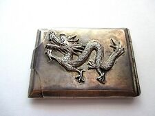 Rare Chinese/Japanese Sterling Silver Dragon Vesta Case/Match Safe !!