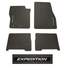 OEM NEW 2012-2014 Ford Expedition Greystone Carpet Floor Mat Set With Logo