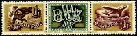 EBS Hungary 1957 - Stamp Day se-tenant strip - Michel 1501-1502ZD MNH**