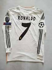 2014 UEFA Real Madrid Cristiano Ronaldo 7 Soccer Jersey White Vintage Shirt