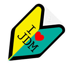 ## I LOVE JDM WAKABA BADGE Car Decal Flag not vinyl sticker ##