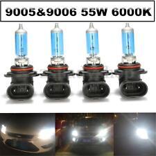 4X 55W 9005/HB3 9006/HB4 6000K Xenon Halogen Headlight Lamp Bulbs High/Low Beam