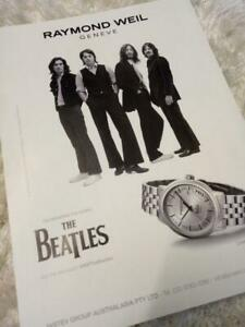 RAYMOND WEIL THE BEATLES WATCH ADVERTISEMENT. 2016 Limited Edition Maestro