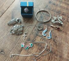Job lot vintage and Antique 925 silver jewellery