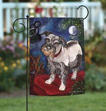 New Toland - Chagrowl Schnauzer - Puppy Dog Portrait Garden Flag
