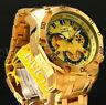 New Invicta Men's Pro Diver Scuba 3.0 Chrono 18K Gold Plated Gold Dial S.S Watch