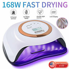 Professional LED UV Nail Dryer Lamp Curing Light Manicure BLUEQUE V1 168W LC5110
