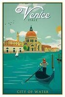 Venecia Italia Letrero de Metal Arqueado Metal Tin Sign 20 X 30CM CC0400
