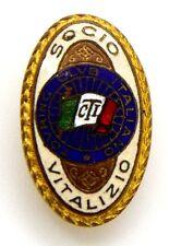 Distintivo Touring Club Italiano Socio Vitalizio (A. Emilio Pagani Milano)