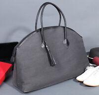"""Travel 16"""" Extra Large Durable Cotton+PU Leather Lady Women Handbag Mummy Bag"""
