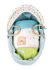 Forever Friends 4 Piece Light Wicker Moses Basket Dressing Set - Pink & Blue